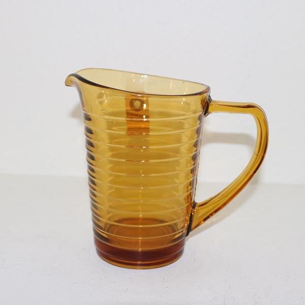17 Retro brun glaskande Ø 8 x 15 cm