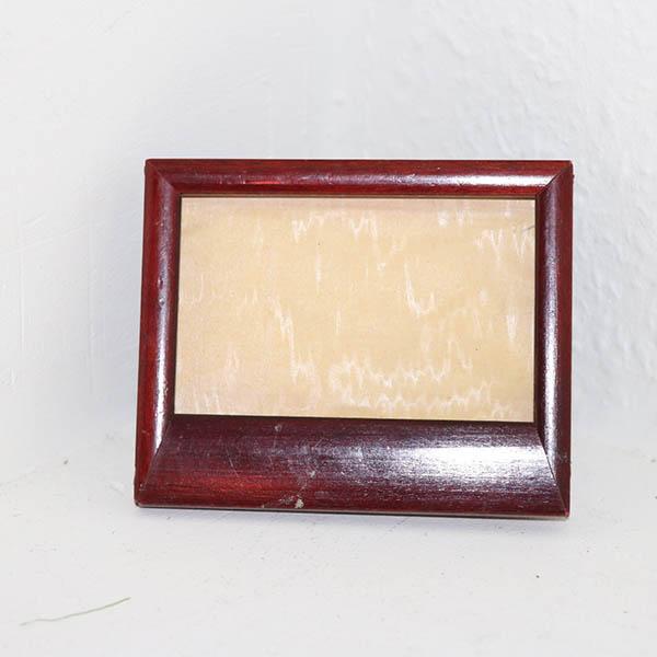3 Maghoni fotoramme uden glas 11 x 9 cm
