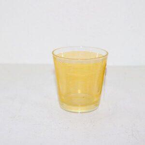 Retro drikkeglas med gule striber