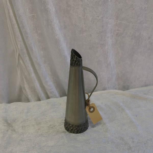 4 Tin kandevase 1970´er - Ø 6 x 20 cm højde