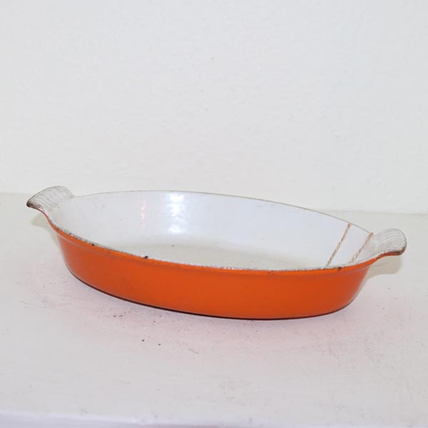 41 Retro orange ildfastfad 24 x 17 x 5 cm