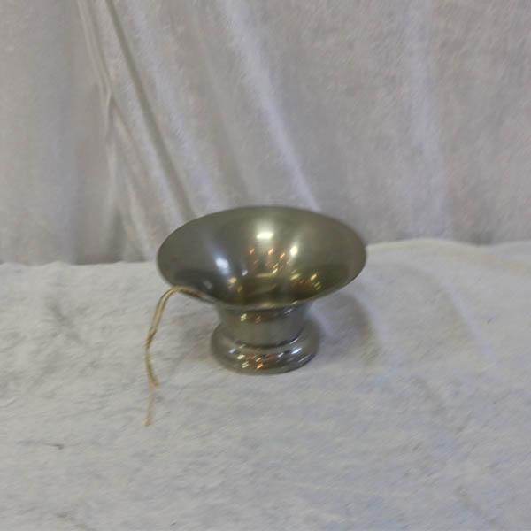 6 Tin vaseopsats Ø 14 x 8 cm højde