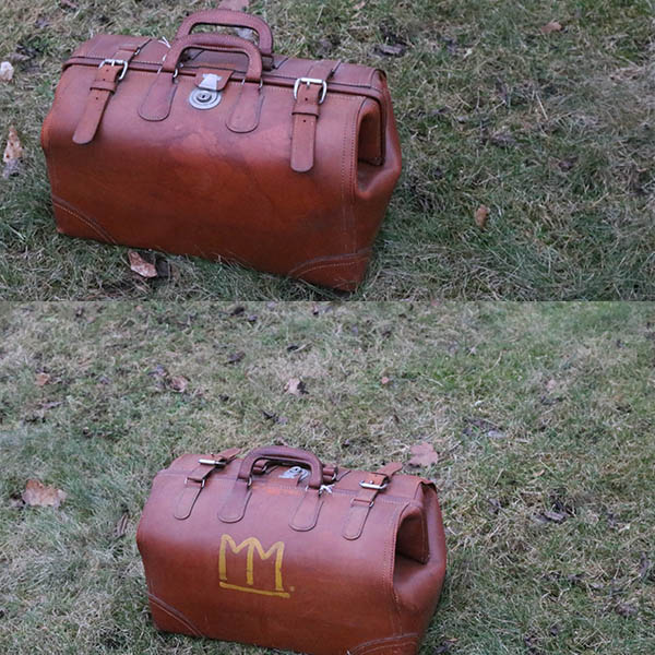 Læder håndtaske - flot og ikke slidt
