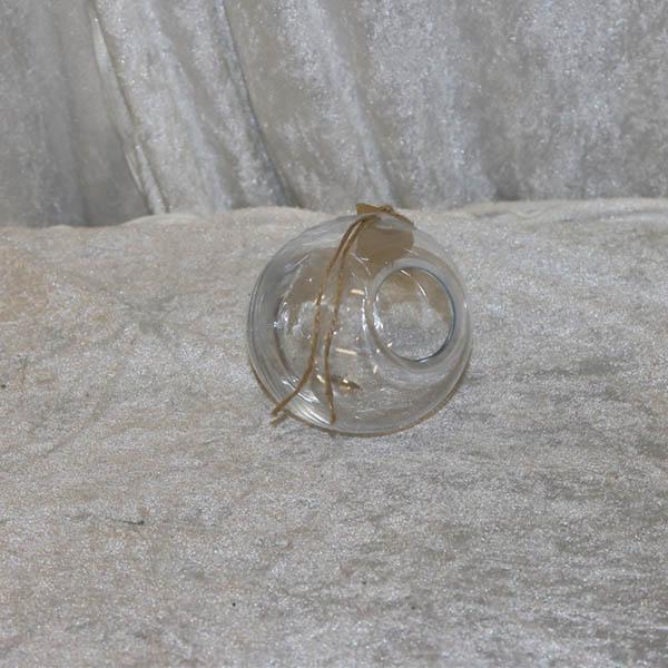Liggende buttet klar glasvase