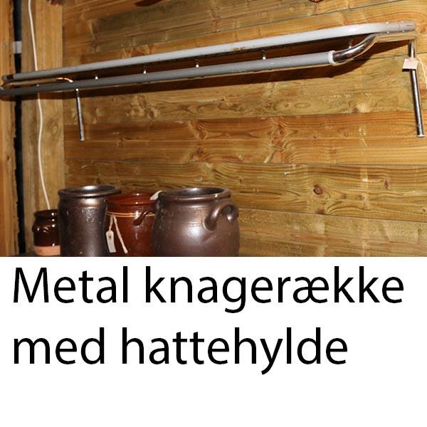 Metal knager 1 række og hattehylde