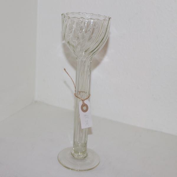 Glas Sterinlysholder 27 cm højden