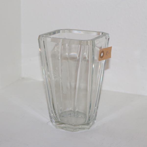 Tung glasvase 12 x 12 x 20 cm i højden