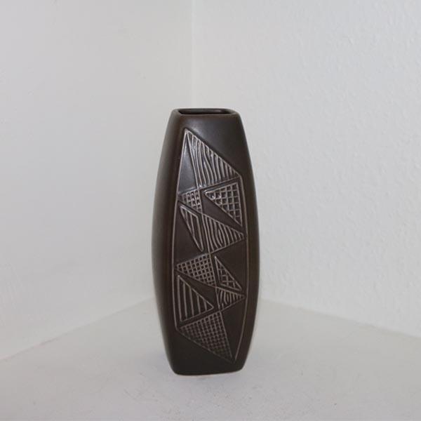 Retro brun 2058 keramikvase 7 x 7 x 24 cm