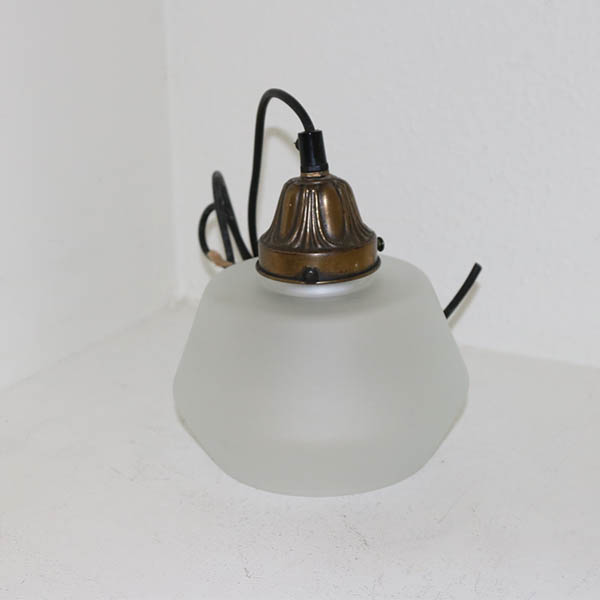 Lampe frosted gammel Ø 18 x 18 cm