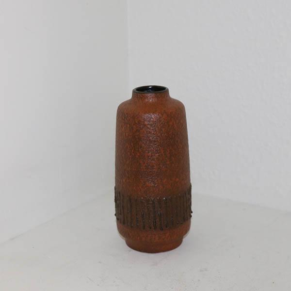 Retro varm brun vase Ø 9 x 18 cm