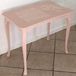 Romantisk sofabord 70x45x60 cm H - laksefarvet - Scandiinavian Pink
