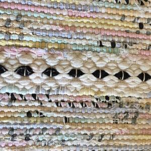 Svensk bordløber sarte farver 34 x 86 cm