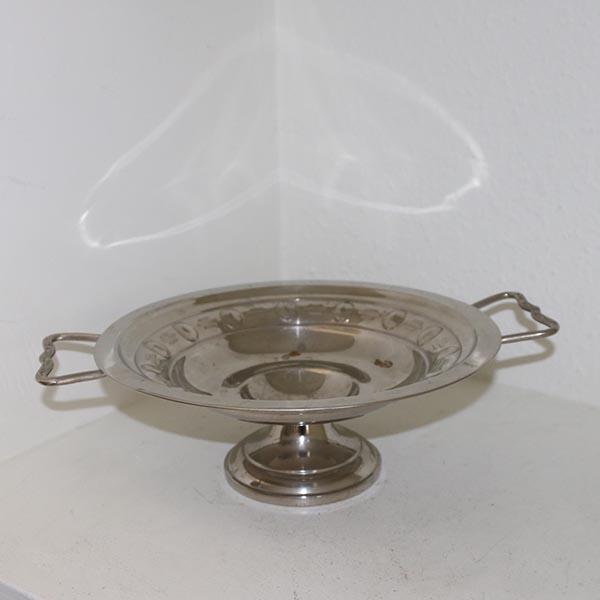 Sølvplet opsats Ø 25 x 10 cm