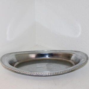Sølvplet skål 39,5x22x3,5 cm
