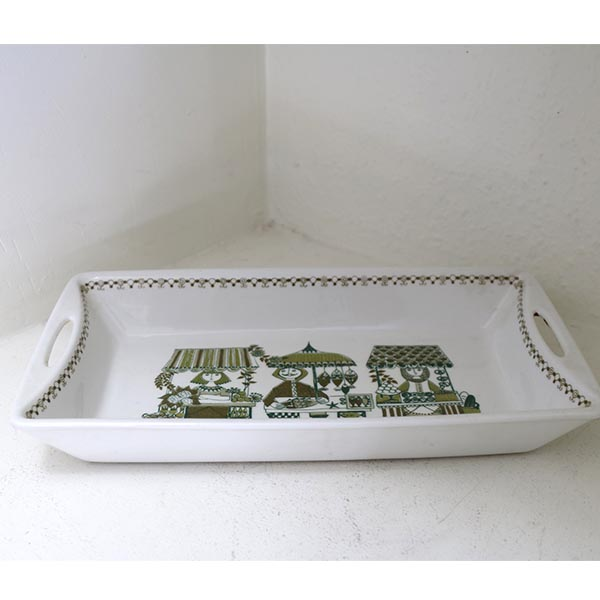 Retro Turi Design fad Norway 32x17,5x5 cm mintgrøn hvid