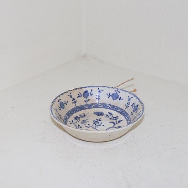 Dreshen blå råhvid sæbeskål Ø 13 x 3 cm