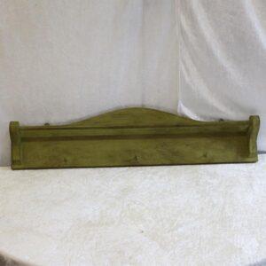 Olivenfarvet håndklædetørrer - knage 73x17 cm