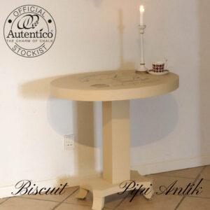 scuit ovalt bord 78 x 56,6 x 75 cm i højden