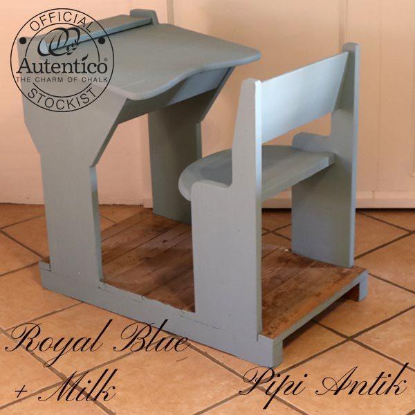 Royal Blue Mllk skolebænk Autentico 49x81x78 cm