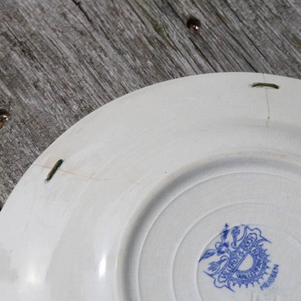 1 Musselmalet Villaroy tallerken dyb med rep