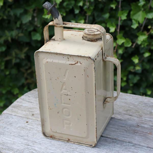 Cremefarvet retro petroleumsdumk 15x15x35 cm H