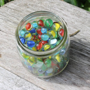 Glaskugler små assorteret farver