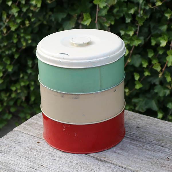 Retro multilag kagedåse - pastelfarver