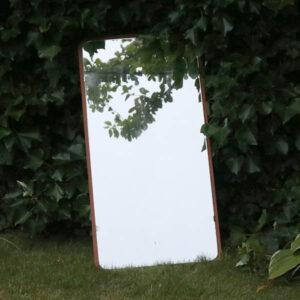 Retro teak spejl 87x44,5 cm