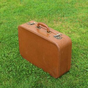 Kuffert brun retro 52x32x15 cm