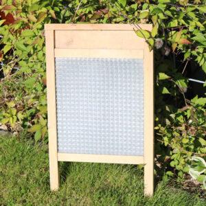 Zink vaskebræt - flot mønster