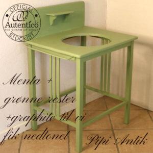 Mintgrøn vaskebord L72xB53xH90 cm