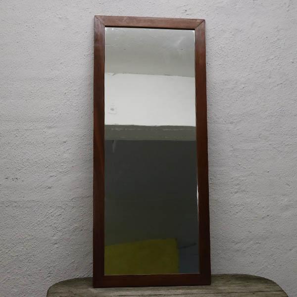 Teak retro lakeret spejl 101x42,5x1,5 cm