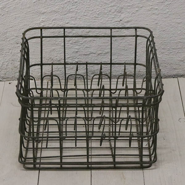 Galvaniseret flaskeholder 37x37x24 cm