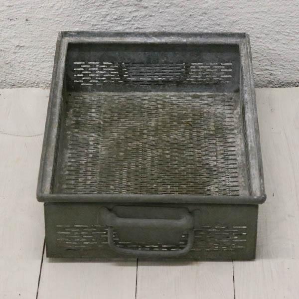 Galvaniseret metalskuffe 47x32x13 cm