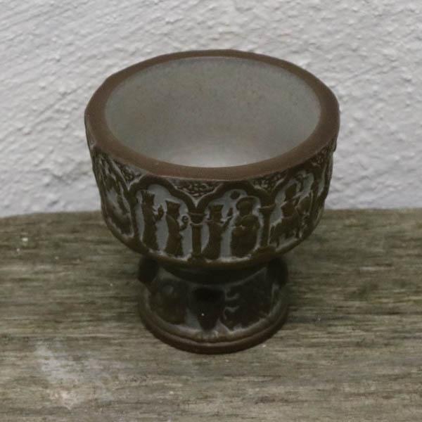 Døbefond brun Ø 14 x 9 cm