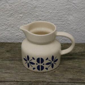 Kande - retro - råhvid blå Ø12x12,5 cm
