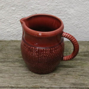Keramikkande bordeaufarvet snormønstret - buttet lille