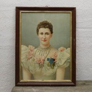 Kongelig dame billede i pastel farver 45x60 cm - Sverige