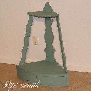 Hjørnehylde med skuffer romantisk blåligt 31x5x69 cm