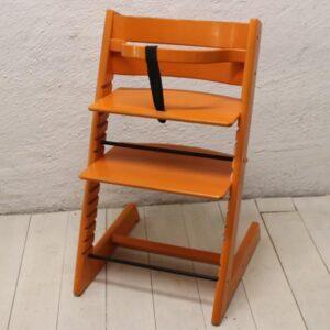 Orange - trip trap stol - retro 74 cm H
