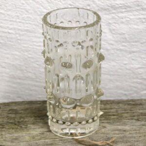 11 SKLO glasvase Ø6,5x17,5 cm - retro - Czek vase Daved Panek design