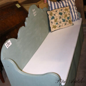 Slagbænk Duck Egg Blue og Hvid sæde 85,5x52x98 cm (47 siddehøjde)