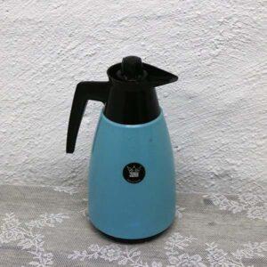 10 Retro plastik kaffekande - tyrkisblå - 13x28 cm