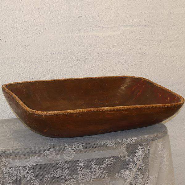 11 Dejtrug - sulefad - brunmalet - og fletkant 73x42,5x18,5 cm