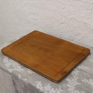 Serveringsbakke lyst tre teak 45x32 cm
