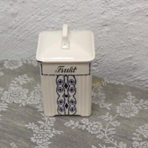 Frukt beholder i porcelæn - mærket Lotte - 10x10x20 cm