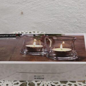 Marie Sohl fyrfadsholder - 2 nye i glas