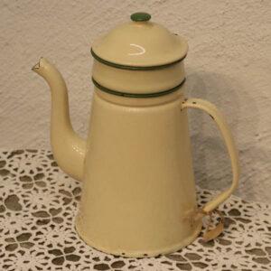 3 Emalje kaffekande - cremefarvet - Ø 15x27cm Klud og Marstand