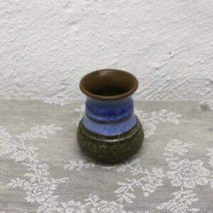 4 4 Retro blå keramik vase Ø10x11 cmRetro blå keramik vase Ø10x11 cm
