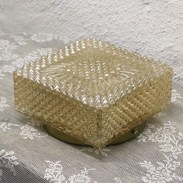 5 Loftlampe retro guld look mønstret 20x20x10 cm H